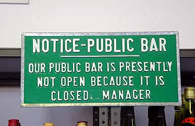 Is this bar really closed?